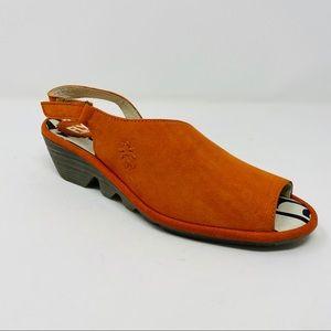 FLY LONDON LOW-WEDGE SANDAL (PALP-814) orange